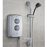 Triton T70GSI+ Silver Satin effect Electric shower, 9.5 kW