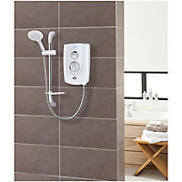 Triton Excite+ White Electric shower, 8.5 kW