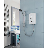Triton T80 Easi-Fit+ White Electric shower, 10.5 kW