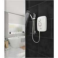 Triton T80 Easi-Fit+ Thermostatic White Electric Shower, 8.5kW