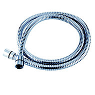 Triton Chrome effect Stainless steel Shower hose, (L)1.5m