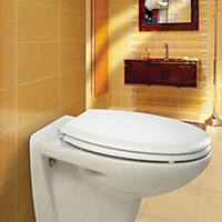 Bemis New York White Soft close Toilet seat