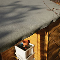 8x6 Larchlap Apex roof Overlap Wooden Shed With assembly service