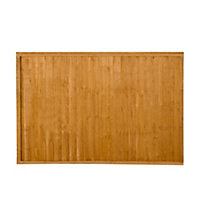 Wood Closeboard Fence panel (W)1.83 m (H)1.22m, Pack of 4