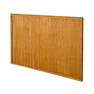 Forest Garden Closeboard Fence panel (W)1.83m (H)1.22m, Pack of 4