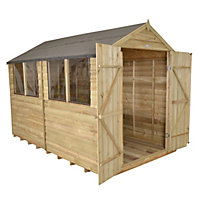 10x8 Forest Apex roof Overlap Wooden Shed