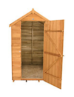 6x4 Forest Apex roof Overlap Wooden Shed Base included