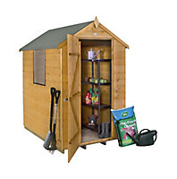 Forest 6x4 Apex Shiplap Wooden Shed (Base included)