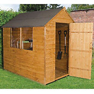 Forest 7x5 Apex Overlap Wooden Shed - Assembly service included