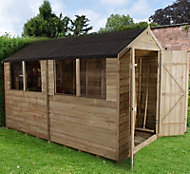Forest 10x6 Apex Overlap Wooden Shed - Assembly service included