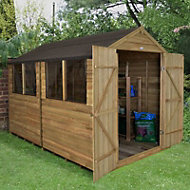 Forest 10x8 Apex Overlap Wooden Shed - Assembly service included