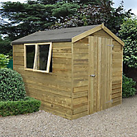 Forest 8x6 Apex Tongue & groove Wooden Shed - Assembly service included