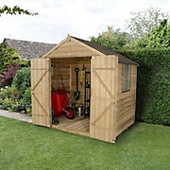 Forest 7x5 Apex Overlap Wooden Shed (Base included) - Assembly service included