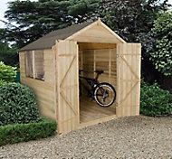 Forest 7x7 Apex Overlap Wooden Shed (Base included) - Assembly service included