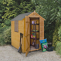 Forest 6x4 Apex Shiplap Wooden Shed (Base included) - Assembly service included