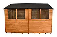 10x6 Forest Apex roof Overlap Wooden Shed