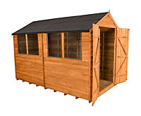 Forest Garden 10x6 Apex Overlap Wooden Shed