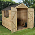 8x6 Forest Apex roof Overlap Wooden Shed