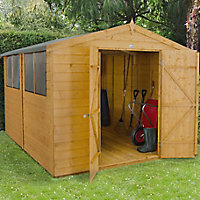 10x8 Forest Apex roof Shiplap Wooden Shed