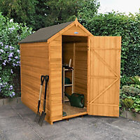 Forest 6x4 Apex Overlap Wooden Shed (Base included)