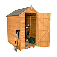 Forest 6x4 Apex Overlap Wooden Shed (Base included) - Assembly service included