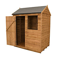 6x4 Forest Reverse apex Overlap Wooden Shed Base included