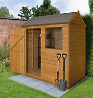 Forest Garden 6x4 Reverse apex Overlap Wooden Shed (Base included)
