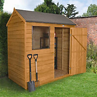 Forest 6x4 Reverse apex Overlap Wooden Shed - Assembly service included