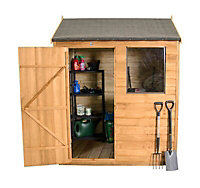 Forest 6x4 Reverse apex Overlap Wooden Shed (Base included) - Assembly service included