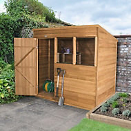 Forest 7x5 Pent Overlap Wooden Shed (Base included)
