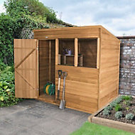 Forest 7x5 Pent Overlap Wooden Shed - Assembly service included