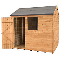 8x6 Forest Reverse apex Overlap Wooden Shed Base included