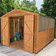 12x8 Forest Apex roof Overlap Wooden Shed