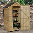 4x3 Forest Apex roof Overlap Wooden Shed