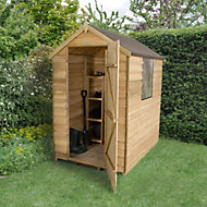 6x4 Forest Apex roof Overlap Wooden Shed