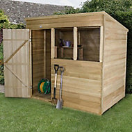 7x5 Forest Pent Overlap Wooden Shed Base included