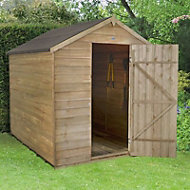8x6 Forest Apex roof Overlap Wooden Shed Base included