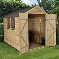 Forest 8x6 Apex Overlap Wooden Shed (Base included)