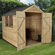 Forest 8x6 Apex Overlap Wooden Shed (Base included) - Assembly service included