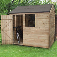 Forest 8x6 Reverse apex Overlap Wooden Shed (Base included)