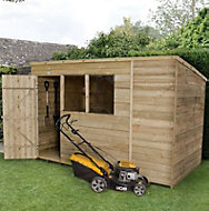 Forest 10x6 Pent Overlap Wooden Shed - Assembly service included