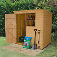 6x4 Forest Pent Shiplap Wooden Shed Base included