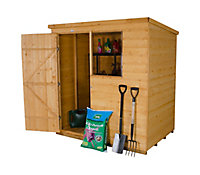 Forest 6x4 Pent Shiplap Wooden Shed - Assembly service included