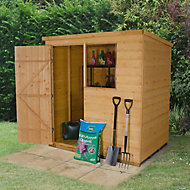 Forest Garden 6x4 Pent Shiplap Wooden Shed - Assembly service included