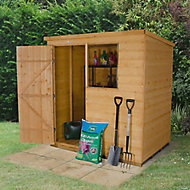 Forest Garden 6x4 Pent Shiplap Wooden Shed (Base included) - Assembly service included