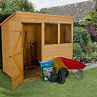 Forest Garden 7x5 Pent Shiplap Wooden Shed - Assembly service included