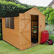 8x6 Forest Apex roof Shiplap Wooden Shed Base included