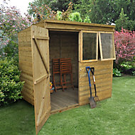 Forest 7x5 Pent Tongue & groove Wooden Shed