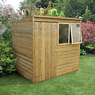 Forest 7x5 Pent Tongue & groove Wooden Shed - Assembly service included