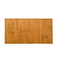 Featheredge Fence panel (W)1.83 m (H)0.93m, Pack of 3